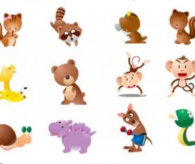 Cartoon wild animals vector