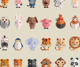 Flat animal icon vector