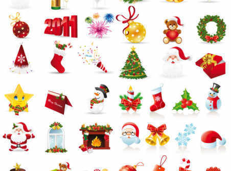 Free Christmas Icons Vector Free Download