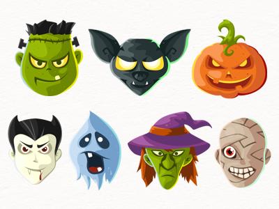 Halloween Head icons Free