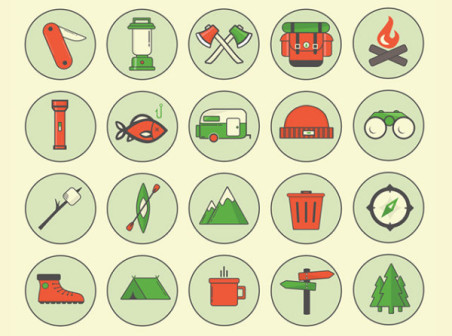 Outdoor camping icon