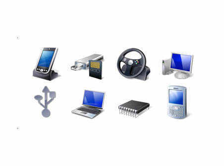 Hardware and Devices Icon Set