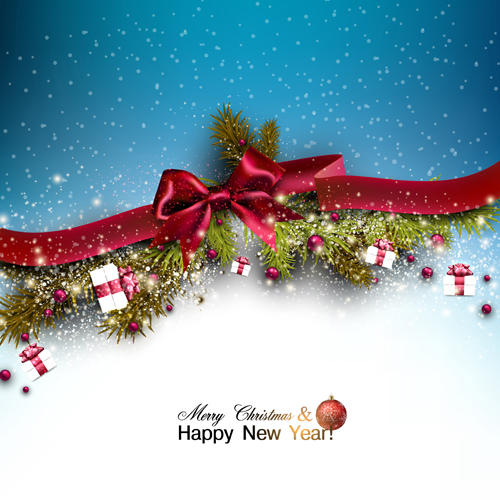 2015 christmas and new year baubles background vector 04