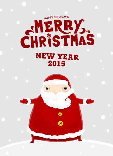 2015 Christmas and new year santa background 01