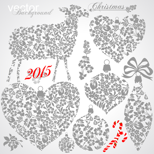 2015 Christmas ornament elements design vector