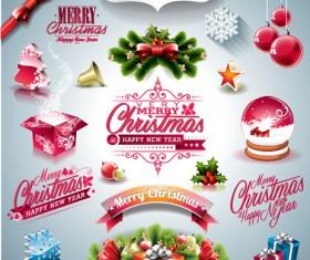 2015 Merry Christmas design elements ornament illustration vector