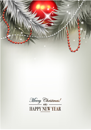 2015 New year and christmas baubles shiny background 01