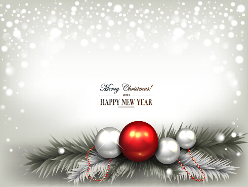2015 new year and christmas baubles shiny background 02