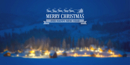 2015 christmas and new year blurred backgrounds vector 04