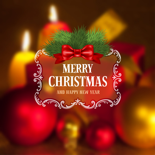 2015 christmas and new year blurred backgrounds vector 05