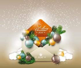 2015 christmas envelope shiny background vector 01