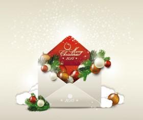 2015 christmas envelope shiny background vector 02