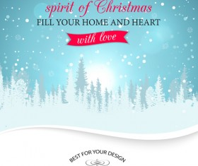 2015 christmas snow winter background vector 01