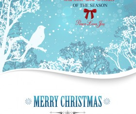 2015 christmas snow winter background vector 02