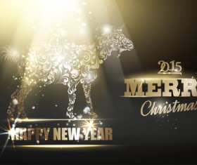 2015 new year for goat creative background vector 02