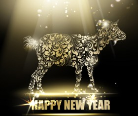 2015 new year for goat creative background vector 04