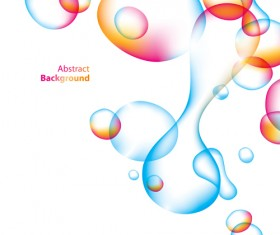 Abstract color bubble vector background