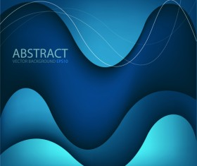 Abstract layers wave art background 06