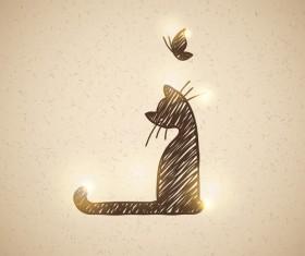 Art kittens vector backgrounds 01