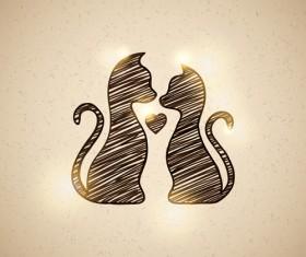 Art kittens vector backgrounds 03