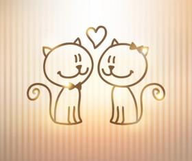 Art kittens vector backgrounds 05