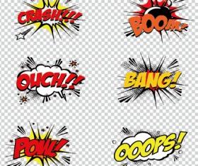 Art objects comics logos vector 01