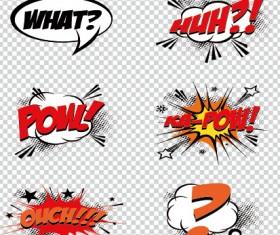 Art objects comics logos vector 02