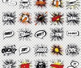 Art objects comics logos vector 03
