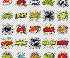 Art objects comics logos vector 04