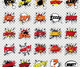 Art objects comics logos vector 05
