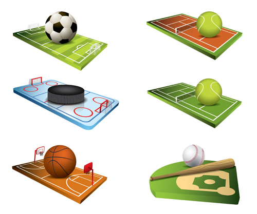 Ball and ball field vector graphics