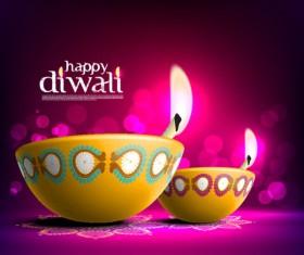 Beautiful happy diwali backgrounds vector 04