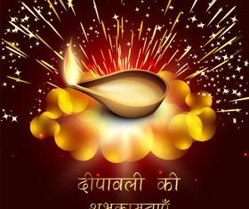 Beautiful happy diwali backgrounds vector 08