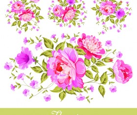 Beautiful pink flower vector material