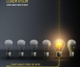 Bulb idea black business template vector 03