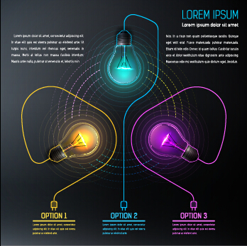 Bulb idea black business template vector 07