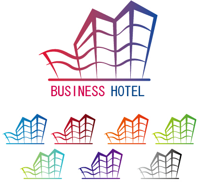 Business hotel logos design vector vector business free for Business hotel design