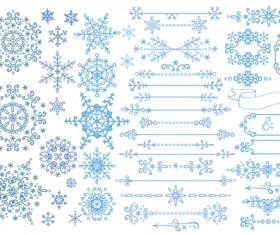 Christmas snowflake ornaments elements vector 01