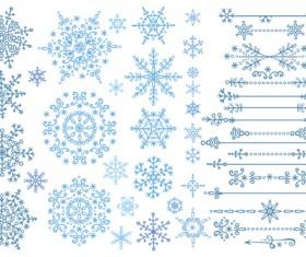 Christmas snowflake ornaments elements vector 02