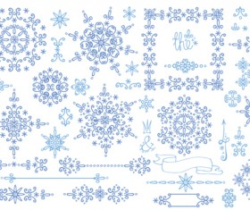 Christmas snowflake ornaments elements vector 03