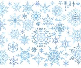 Christmas snowflake ornaments elements vector 04