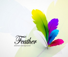 Colored feathers art background 01