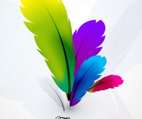 Colored feathers art background 02
