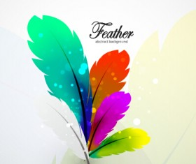 Colored feathers art background 03
