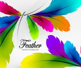 Colored feathers art background 04