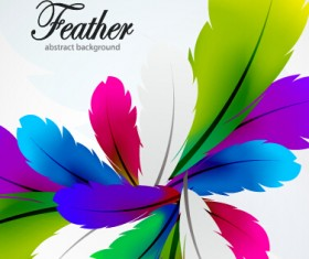 Colored feathers art background 05