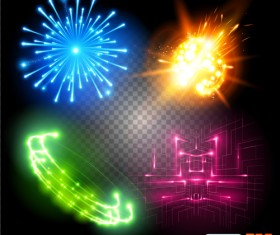 Colored light special effects vector 01