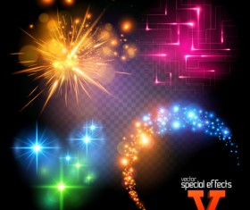 Colored light special effects vector 02