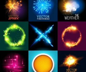Colored light special effects vector 03