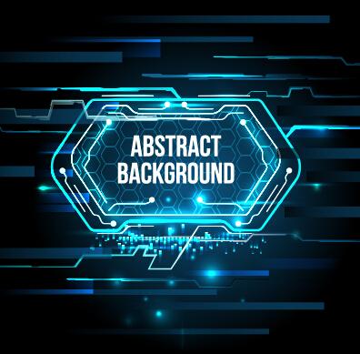 Concept futuristic tech background vector 03